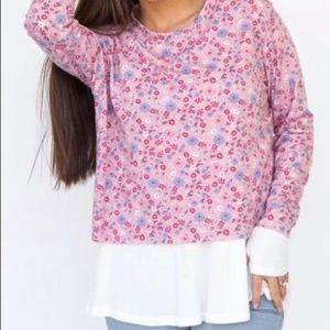 Mini Floral Pullover
